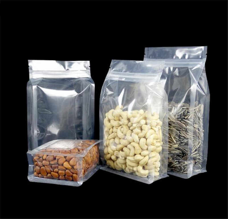 ชุดตัวอย่าง CLEAR Ziplock Stand Up กระเป๋าสำหรับขนมขบเคี้ยว/ถั่วกระเป๋า