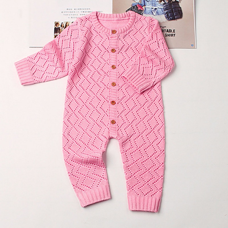 HTB1um9kasrrK1RjSspaq6AREXXa6 2019 Newborn baby boy rompers Toddler Jumpsuit Girls Candy Color Knitted Baby Clothes Infant Boy Overall Children Outfit Spring
