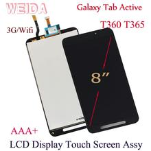 WEIDA LCD Replacment 8 For Samsung Galaxy Tab Active T360 T365 Display Touch Screen Assembly SM-T360 WIFI/ SM-T365 3G