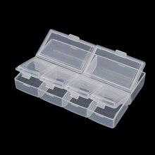 Portable Empty Rhinestone 6 Grid Transparent Jewelry Case Plastic Container Organizer Storage Box