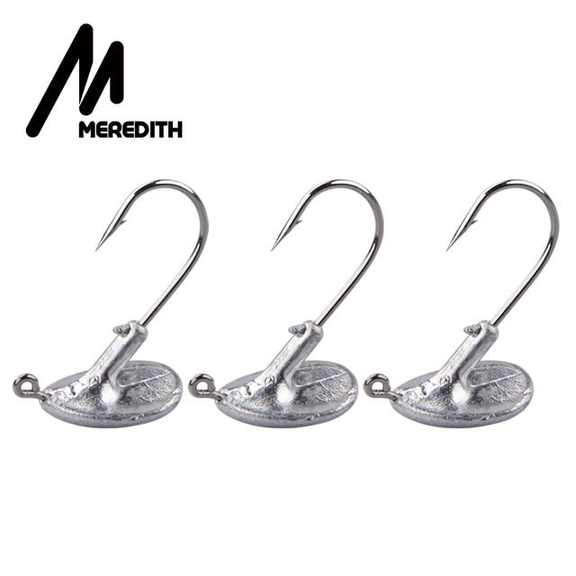 MEREDITH 10PCS/Lot Blood Slot Lead Jig Head Tumbler Fishing Hook 3.5g 5g 7g 10g 14g Hook for Soft Lure Carbon Steel Fishing hook