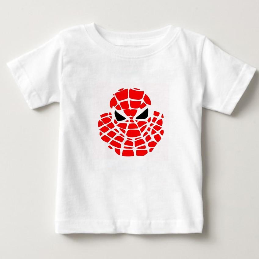Spiderman T-shirt Kids Cartoon Toddler Boys/Girl Tshirts Summer Tees Sweatshirt Tops Baby T shirt Short Sleeve Children shirt N