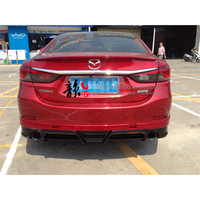For Mazda 6 Atenza 2014 2017 Rear Bumper Diffuser Bumpers Lip Protector Guard skid plate ABS