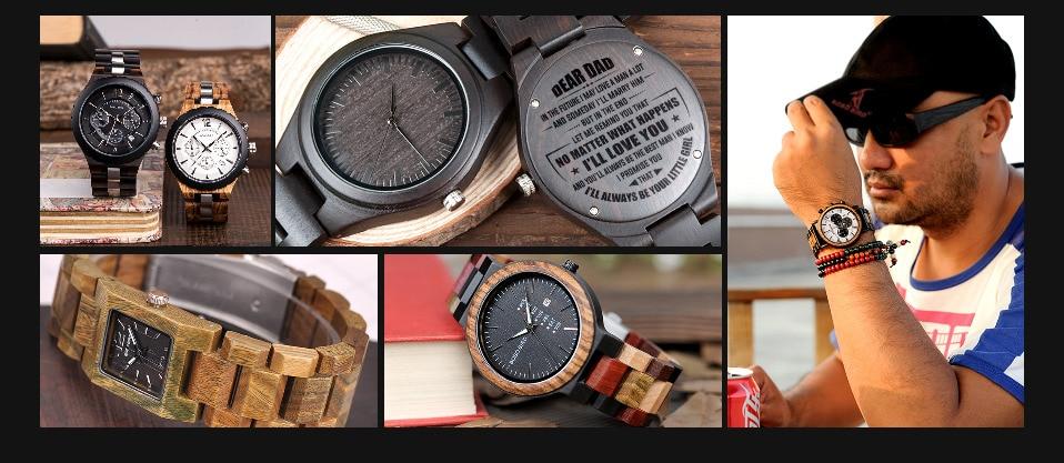 BOBO BIRD MenTimepieces Quartz  Date Wrist Wood Watches 14