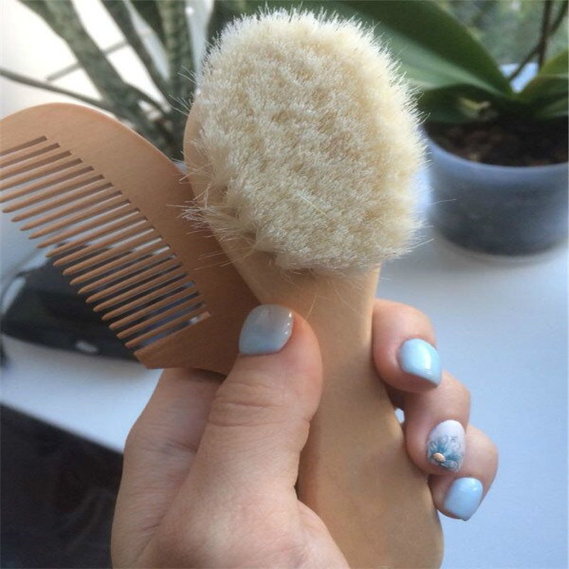 Wooden Comb And Brush [Baby Hairbrush]