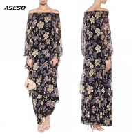 The New 2017 Advanced Custom Classic Printed Silk Dress Sexy Long Ball Gown Sweet Pleated Hot