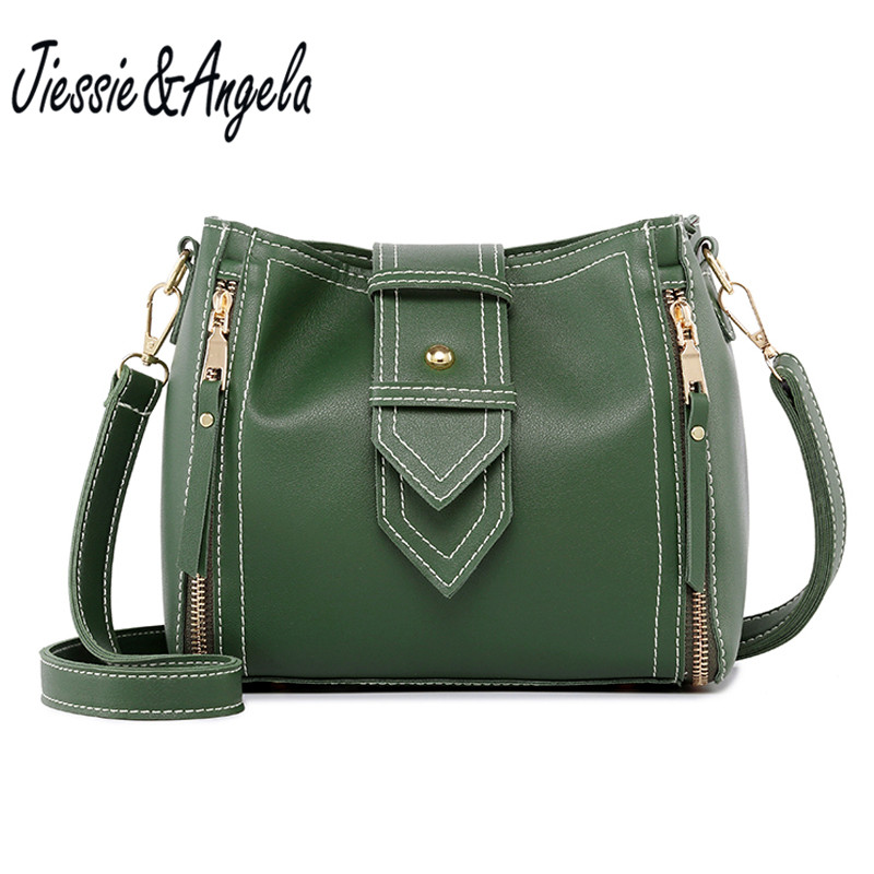 цены Jiessie&Angela fashion women pu leather handbag designer bags famous brand women bags messenger bag casual cross body tote bag