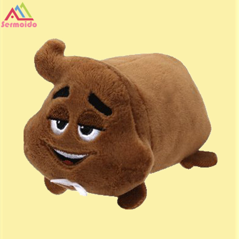 sermoido TY Teeny Tys 4 10cm Poop sr Emoji Stackable Plush Stuffed Animal Collectible Big Eyes Doll Toy