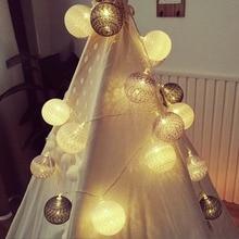 Cotton ball lights battery box light string LED Christmas lights holiday decoration Christmas tree home furnishings