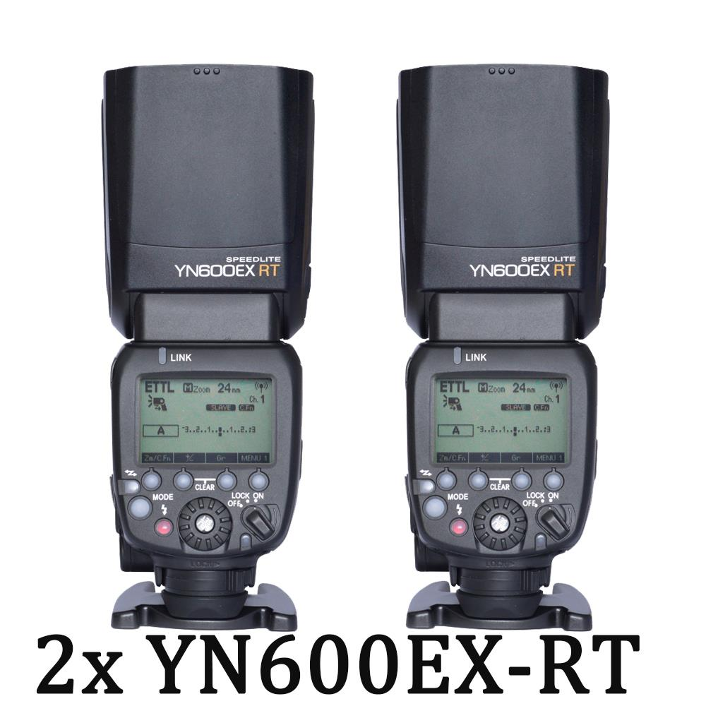 2PCS YONGNUO YN600EX-RT 2.4G Wireless HSS 1/8000s Master Flash Speedlite for Canon Radio Trigger System as 600EX-RT YN600 вспышка для фотокамеры yongnuo speedlite yn600ex rt canon 600ex rt 2 4g hss 1 8000s speedlite yn600ex rt
