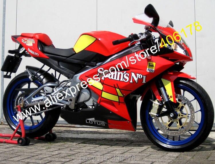 Hot Vendas, No. 1 Para Aprilia RS125 da Espanha 2006 2007 2008 2009 2010 2011 RS 125 ABS RS125 Carenagem da motocicleta (moldagem por injeção)