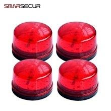 Wired Strobe Siren 12V 24V 220V Signal Warning Light Flash Siren LED Lamp Highlight Alarm Lamp for Alarm Systems Security Home
