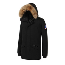 2017 Brand New Waterproof Mens thick Langford parka big raccoon fur real feather down jacket Winter Warm coat