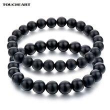 Женский и мужской браслет toucheart из натурального черного
