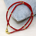 Natural red coral tube beads 2*6mm strand bracelets exquisite gifts for women girls diy clasp free shipping jewelry 13inch B3004