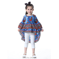 Autumn Children Clothing Girls Cute Princess Dresses Bohemian Style Girl Tops Peacock Embroidery Designer Kids Irregular