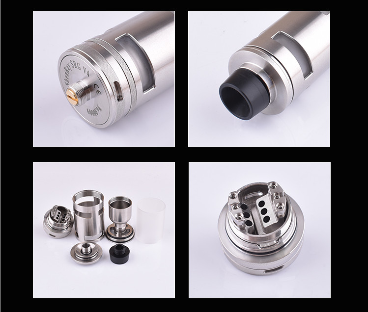 Taifun TF GT4 RTA Atomizer Electronic Cigarette 25mm Diamter Typhoon GT IV 5ml Mech RDA RBA Tank for Vape Box Mod Vaporizer Kit