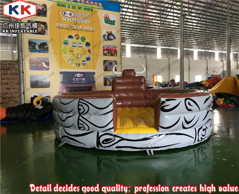Custom Hot Inflatable bull riding machine bounce mat Mechanical Rodeo Bull matress ...