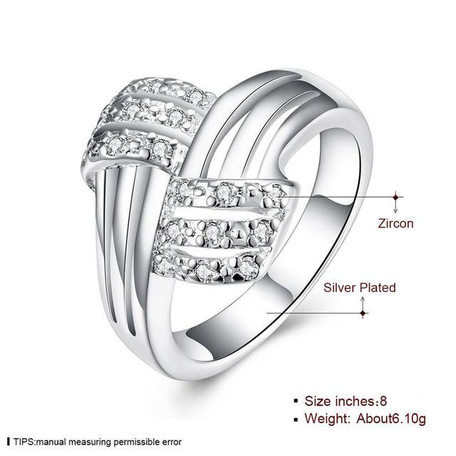 Drop Ship posrebrzane pierścienie dla kobiet moda biżuteria, kobiety i prezent dla mężczyzny Twisted krzyż Cubic cyrkon kryształowy palec pierścienie dla kobiet