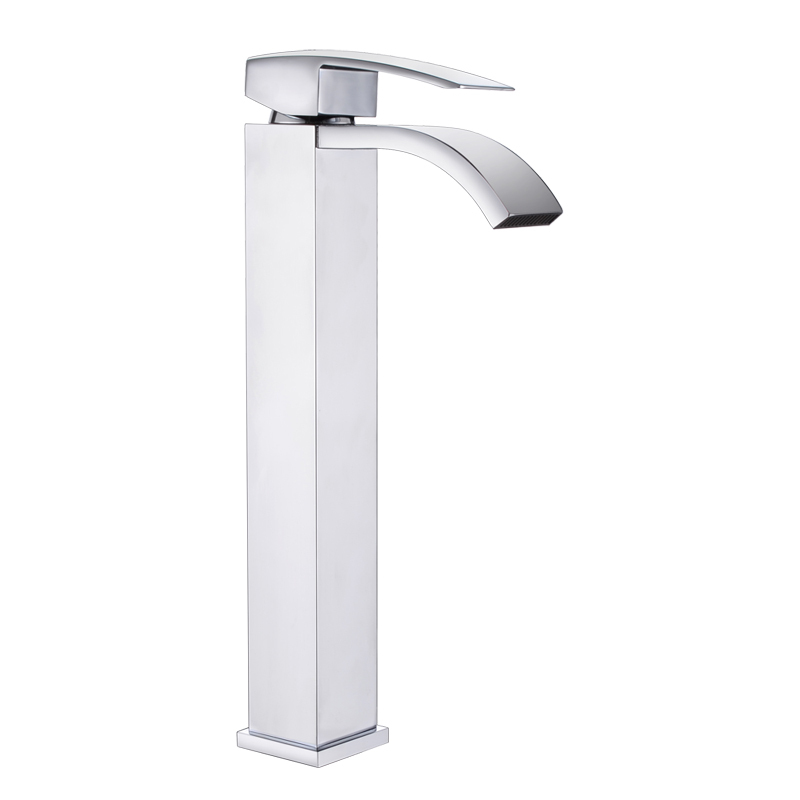 in chrome zoom taps faucet glass bathroom image over brass roll mixer basin vessel faucets saving spout to waterfall finished water