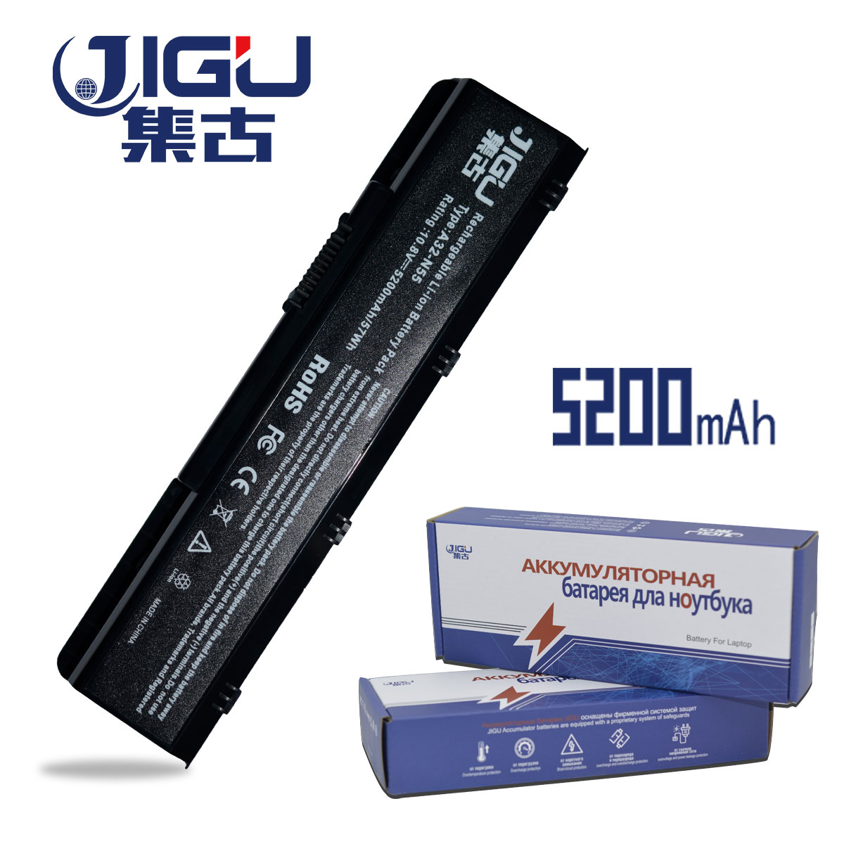 JIGU 5200MAH Laptop Battery A32-N55 For Asus N45 N45E N45S N45SF N55 N55E N55S N55SF N75 ...