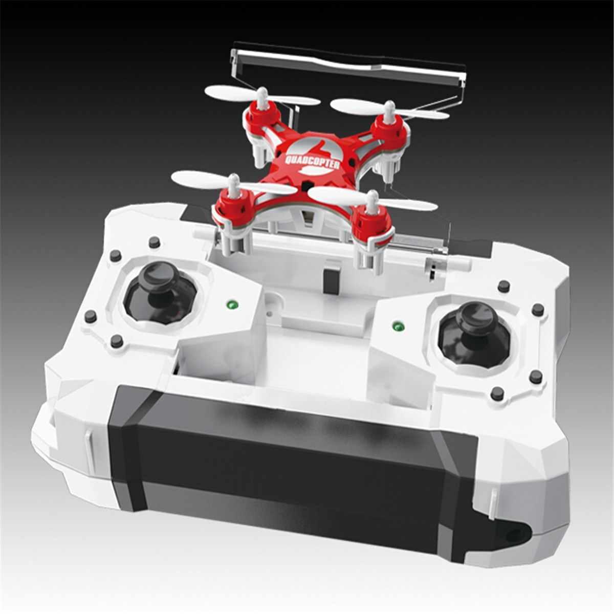FQ777-124 Drone de bolsillo 4CH 6Axis Gyro Quadcopter con controlador conmutable RTF helicóptero de Control remoto juguetes regalo para niños