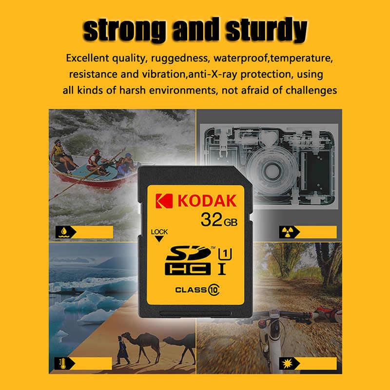 Kodak sd card 16gb 32gb di memoria della carta class10 ad alta velocità Tarjeta sd per la macchina fotografica Canon Nikon Sony carta fotocamera REFLEX digitale