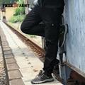 Más el Tamaño Ocasional de Los Hombres Pantalones de Diseño Americano Europeo Recta Larga Duración Bolsillo Grande de Metal Botones de Trabajo Desgaste MK-788C