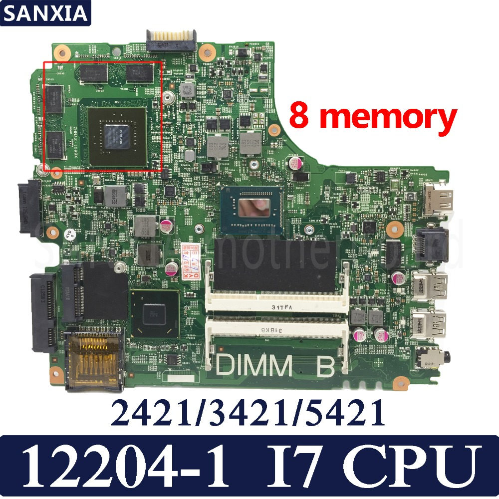 Kufu 12204 1 Laptop Motherboard For Dell Inspiron 3421 2421 5421 Test Original Mainboard I7 Cpu Gt625m Graphics Card 8 Memory October 2020