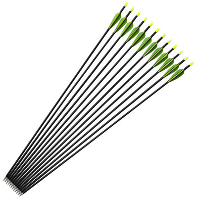 6 /12Pcs Aluminum Arrow Spine 400 OD 8mm For Recurve Bow Hunting Archery