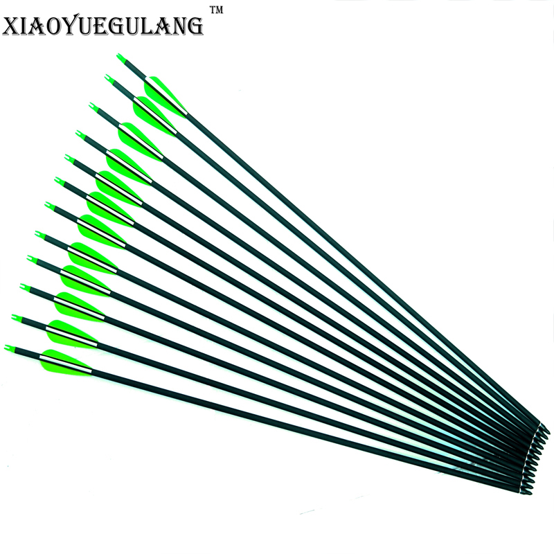 Spine 300 Pure Carbon Arrows With 3'' Vanes For 28/30 Inch