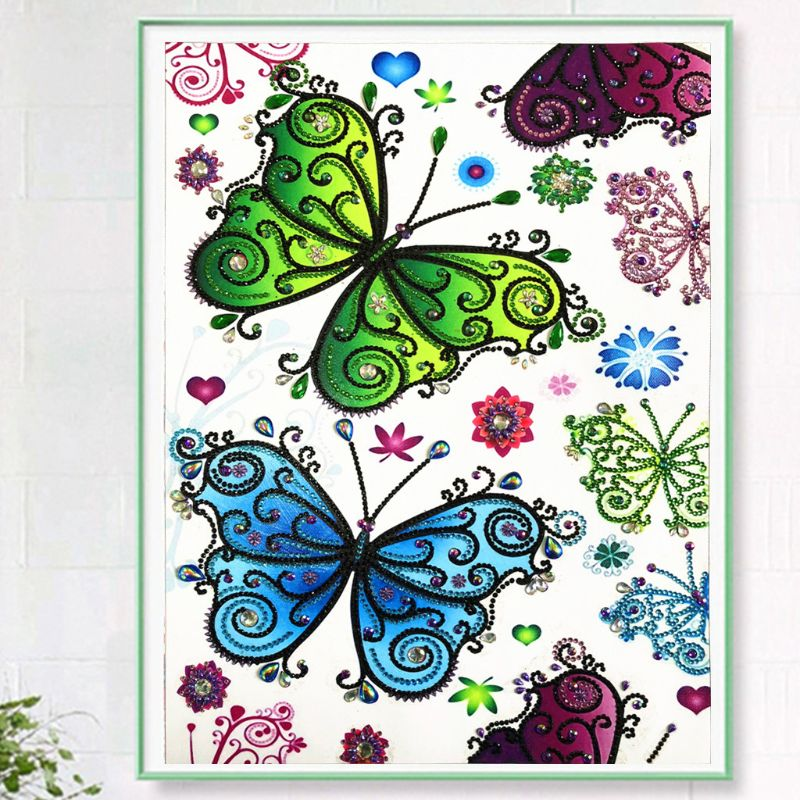 Beautiful Butterfly 5D Special Shaped Diamond Painting Embroidery Needlework Rhinestone Crystal Cross Craft Stitch Kit DIYBeautiful Butterfly 5D Special Shaped Diamond Painting Embroidery Needlework Rhinestone Crystal Cross Craft Stitch Kit DIY