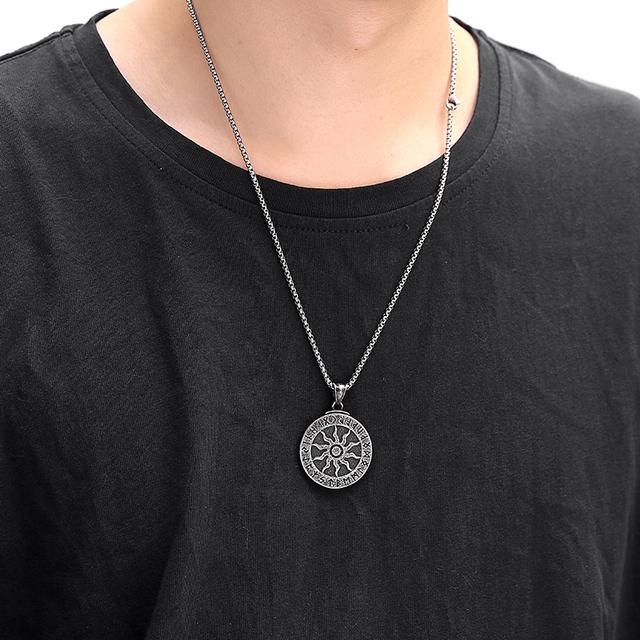 KLDY Retro Men's Pendant Necklace Nordic Stainless Steel Pendant Chain Friendship Necklace Christmas Gift Wholesale drop ship