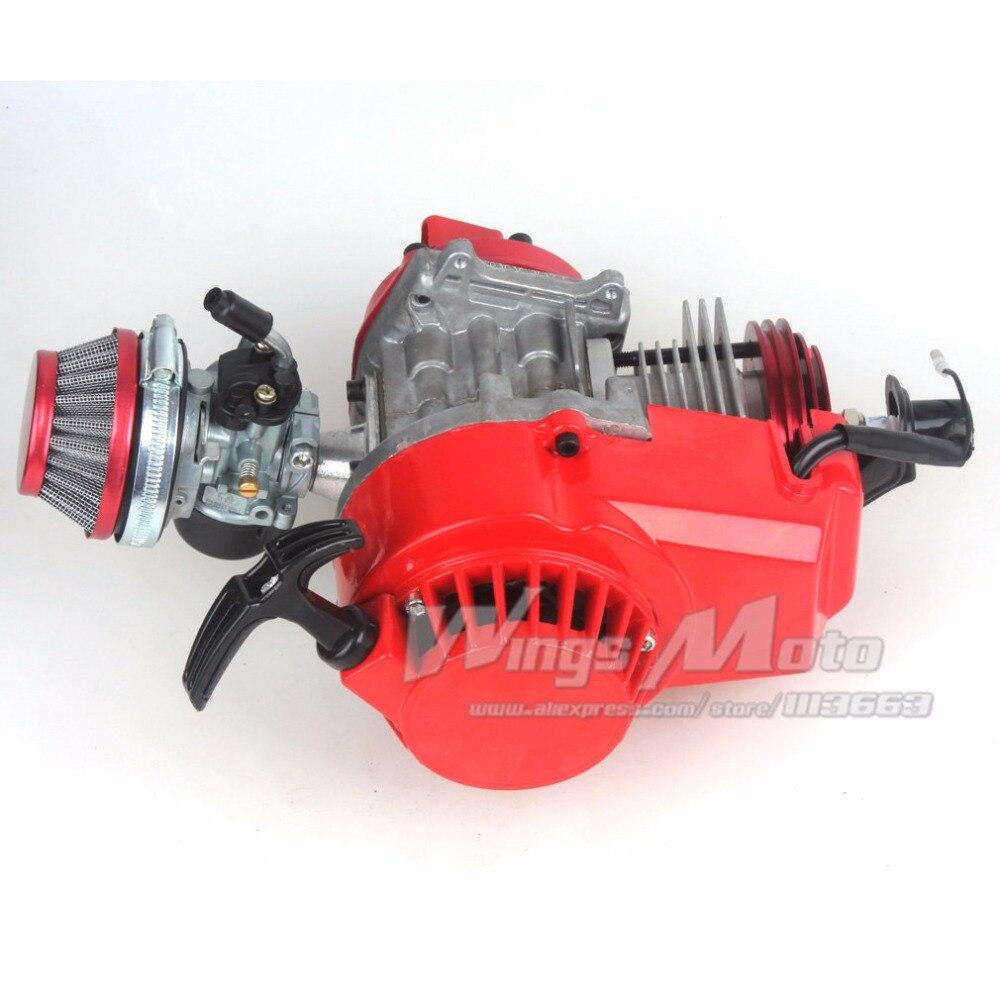 49см 52cc большой Зануда карманный велосипед двигатель с производительностью цилиндра CNC Двигатель Крышка гоночный карбюратор DIY двигателя