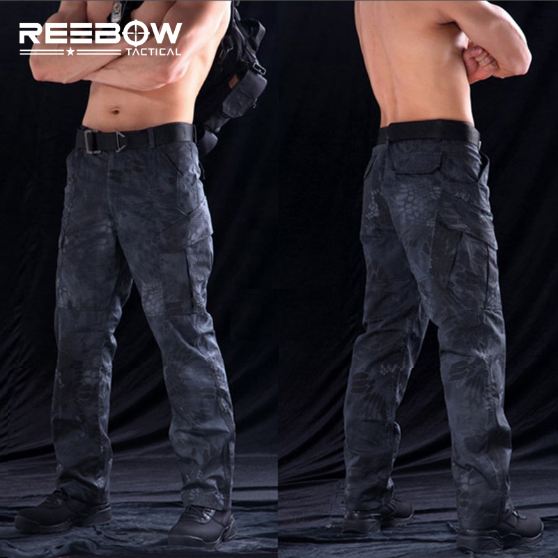 REEBOW TACTICAL Outdoor Airsoft Hunting Pants Men Rattlesnake Camouflage Sports Trousers Military Shooting Urban Paintball