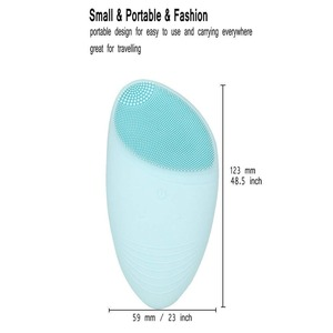 Image 4 - Electric Silicone Face Cleansing Brush Sonic Massage USB Rechargeable Ultrasonic Face Cleaner Beauty Tool Facial cleansing brush