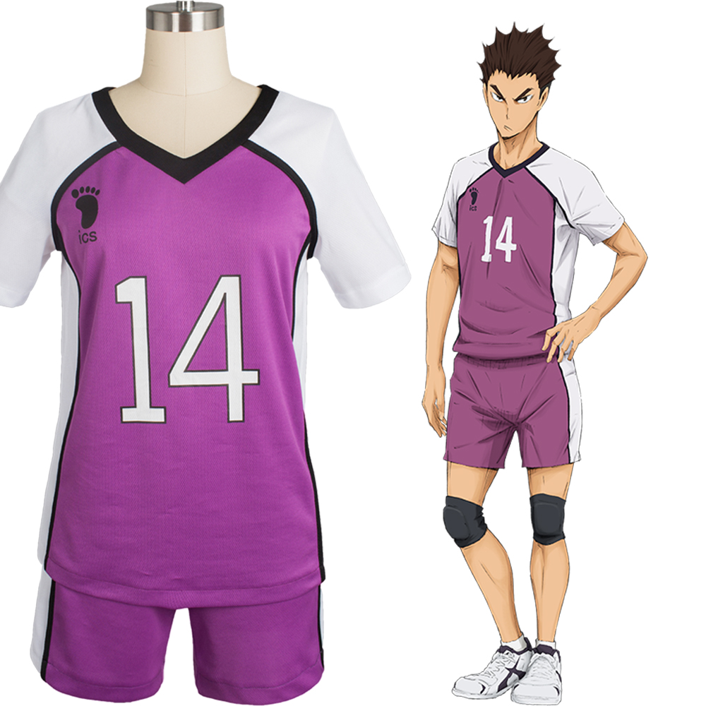 New Original Haikyu Haikyuu Shiratorizawa Academy Libero Yamagata No.14 Uniform Outfit Cosplay Costume Suit Anime For Halloween