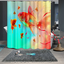 3d Blue and White Porcelain Goldfish Pattern Shower Curtains Bathroom Curtain Thicken Waterproof Thickened Bath Curtain persistence of poverty in rural ghana