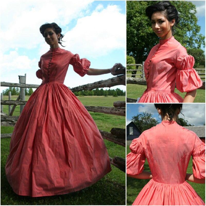 Marie Antoinette Ball Gown Dress Victorian Bridal Civil War Steampunk Dress/Theater/Holid Dress Queen Dress