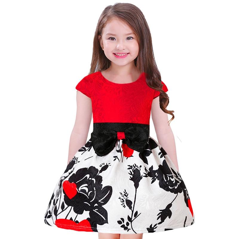 4d4f243ae077 Flower Girls Dress Summer Style Toddlers Teen Children Princess ...
