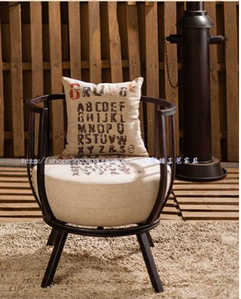 Tieyi sofa chair. Industrial wind restoring ancient ways sofa chair., wrought iron furniture. europe type restoring ancient ways wrought iron bar chair lift chair the foot stool
