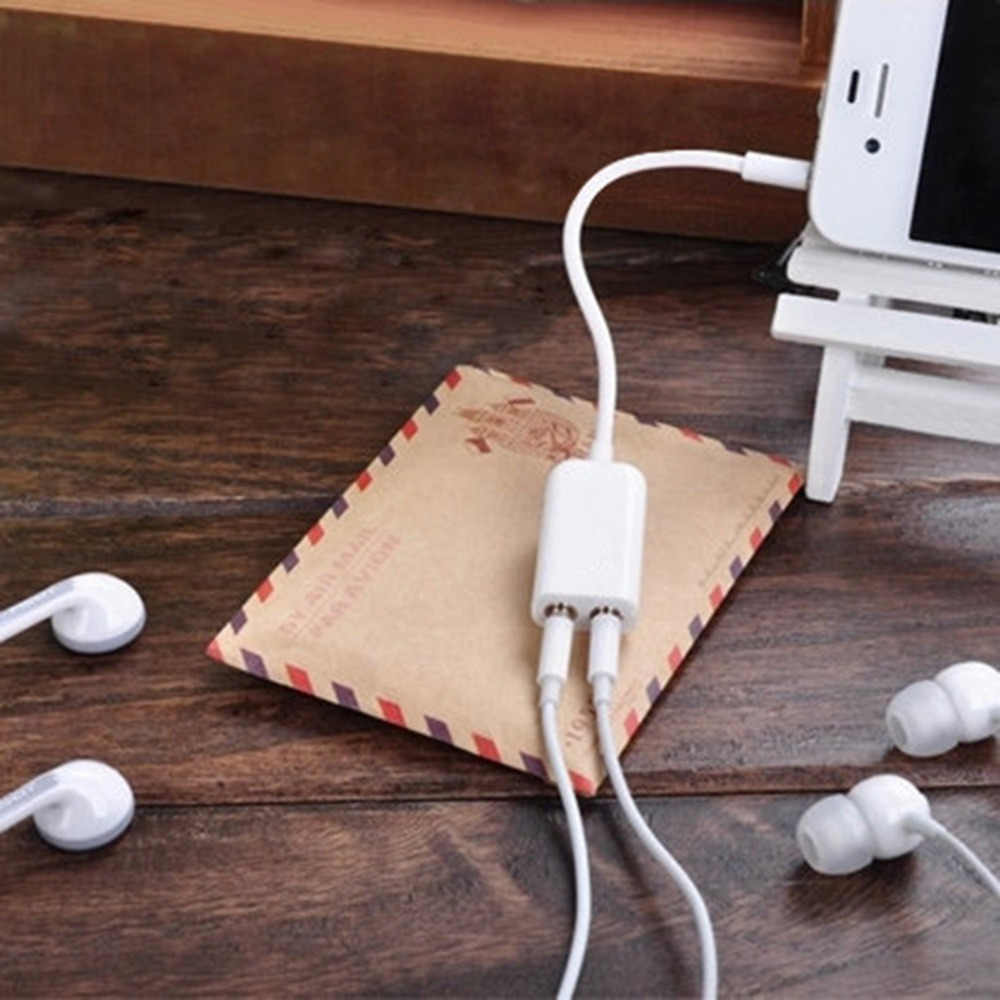 3.5mm Jack 1 męski na 2 kobiece słuchawki Audio zestaw słuchawkowy splitter do słuchawek kabel kompaktowy elastyczne przenośne hurtownia