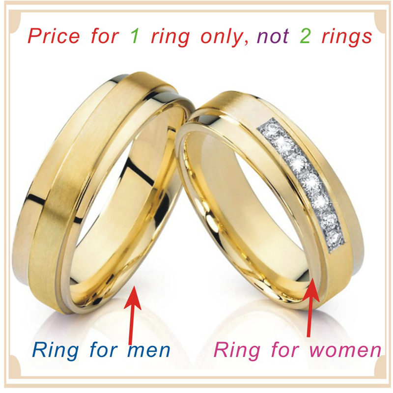 Promise Rings for Women Wedding Band Unique Symmetrical Gold Color ...