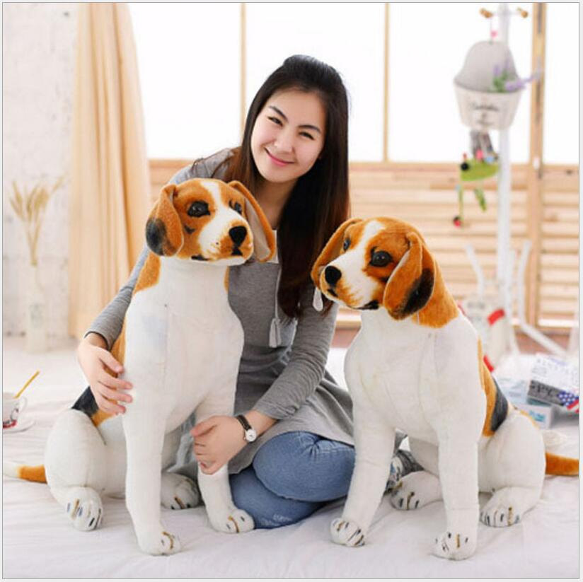 80CM Dog Stuffed Toys Plush Toy Creative simulation Doll White pattern dog home furnishings Dog animal trade For Kids Gift stuffed animal 120 cm cute love rabbit plush toy pink or purple floral love rabbit soft doll gift w2226