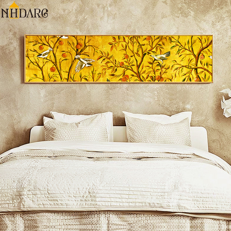 New Chinese Style Rich Tree Bird Bedroom Headboard Decoration Posters and Prints Canvas Painting Wall Pictures Art Home Decor