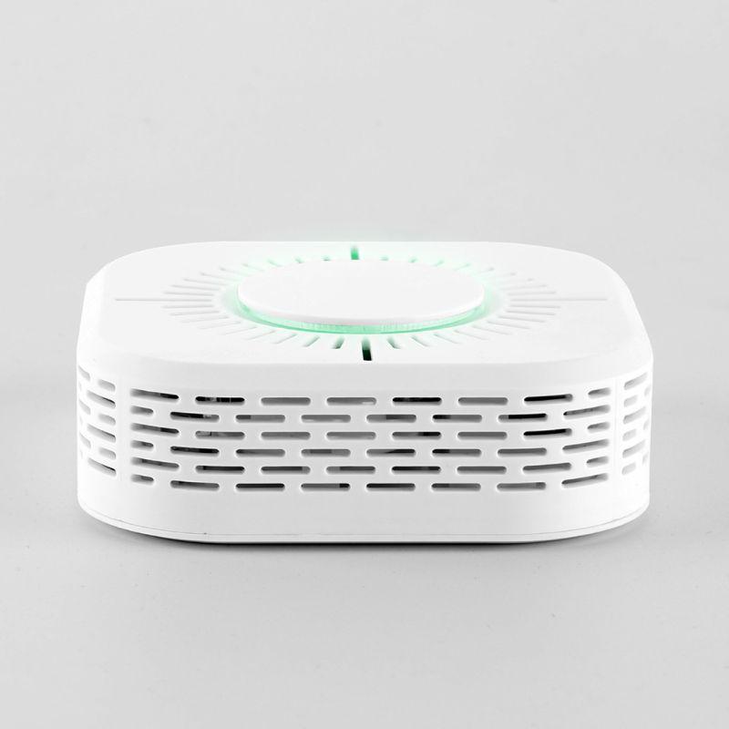 White Smart Wireless Smoke Detector Fire Alarm Temperature Sensor for Home Security Remote Control Gadgets