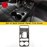 Carbon Fiber Decal Car Center Control Panel Trim Decoration Cover Sticker for VW Touareg 2011 17 Interior Mouldings Accessories