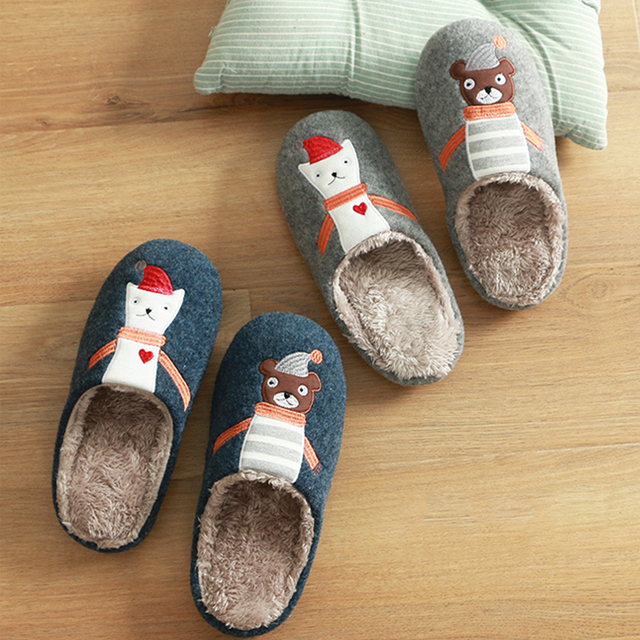 9998512da49 Christmas Slippers Children Fur Slippers Kids Winter Warm Shoes Flip Flops  Child Cotton Home Shoes Funny Slippers Xmas 35-43