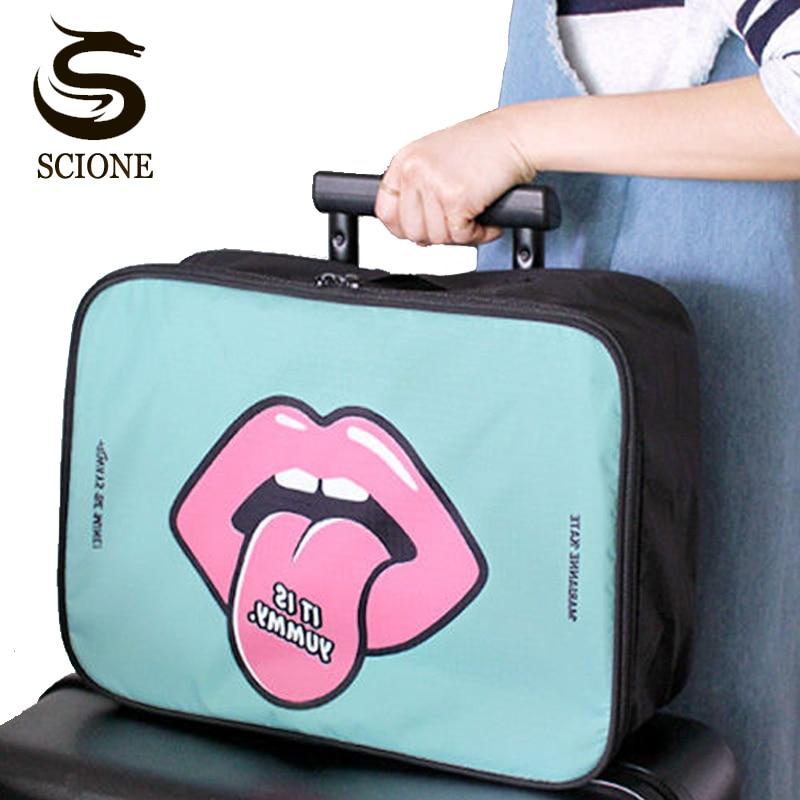 Waterproof Multifunction Women Organizer Handbag Travel Bag Luggage Travel Duffel Bag Large M/L 2 Size Folding Bags Travel Bolsa