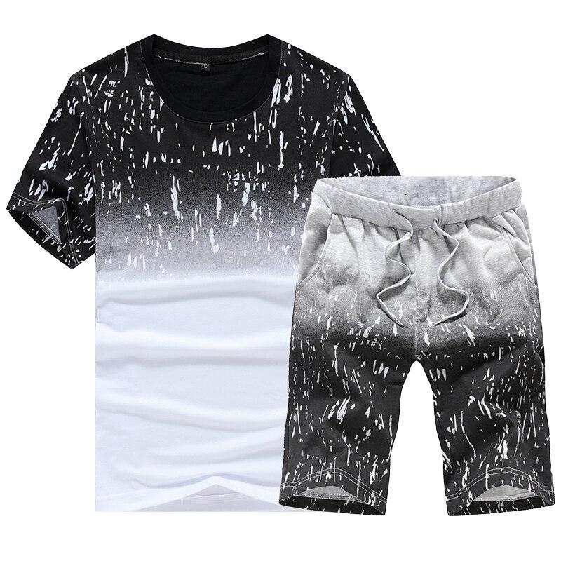 (Футболка + шорти) 2019 літня чоловіча - Чоловічий одяг